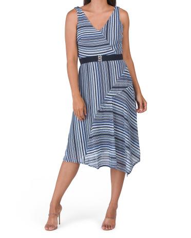 Asymmetrical Hem Knit Dress Gabby Skye