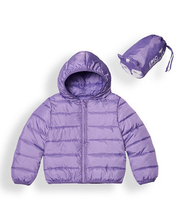 Little Girls Water-resistant Packable Pals Jacket Epic Threads