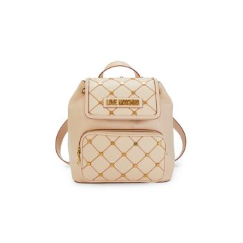 Diamond-Quilted Backpack LOVE Moschino
