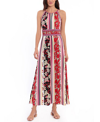 Petite Printed Maxi Dress London Times