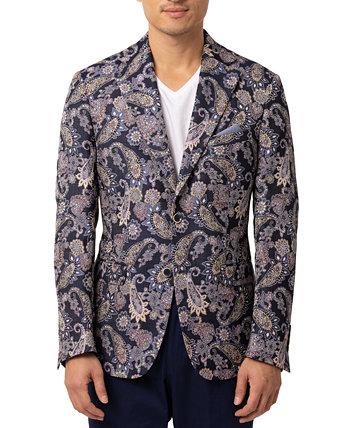 Мужской пиджак узкого кроя с узором пейсли Tallia