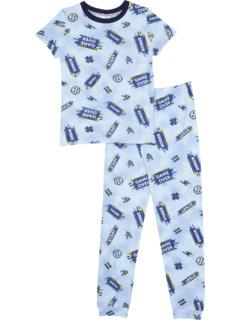 Топ с короткими рукавами и брюки с круглым вырезом (для маленьких детей) Esme