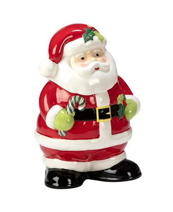 Праздничная волшебная баночка для печенья Санта-Клауса 3D Certified International