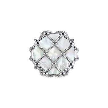 Isola Sterling Silver & amp; Большое кольцо с перламутром Judith Ripka