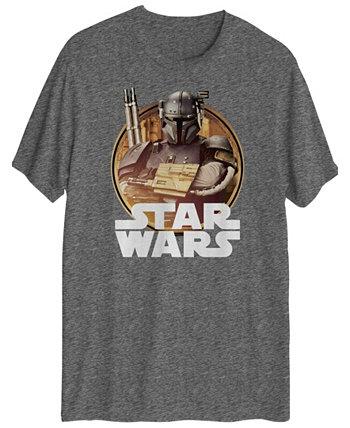 Мужская футболка с коротким рукавом и графикой Mandalorian Solider Hybrid