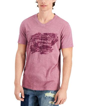 Мужская футболка ручной работы, созданная для Macy's Sun + Stone