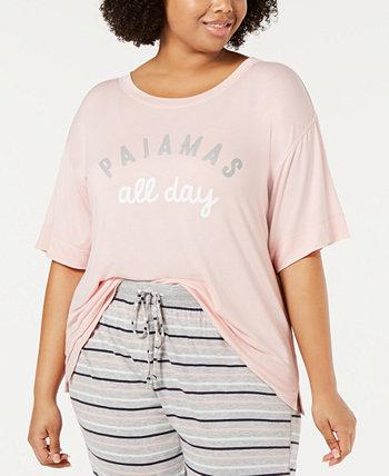 Пижамная рубашка с мягким сердечником и длинными рукавами Jenni