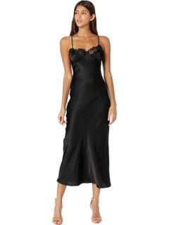Кружевное платье-комбинация миди Bardot