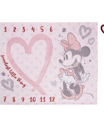 Супер мягкое детское одеяло Milestone Milestone с Минни Маус, 2 предмета Disney