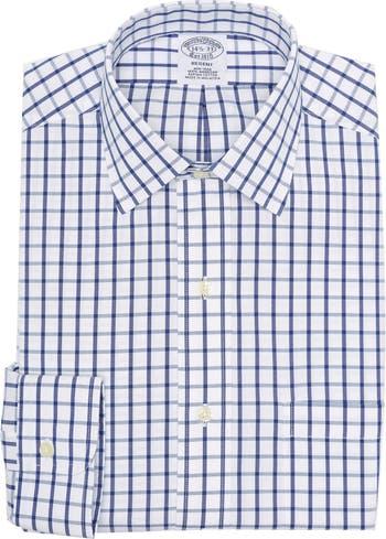 Рубашка Regent Fit с длинными рукавами и принтом в клетку Brooks Brothers