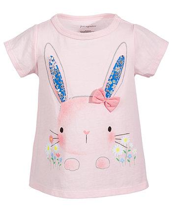 Хлопковая футболка для маленьких девочек Garden Bunny, созданная для Macy's First Impressions