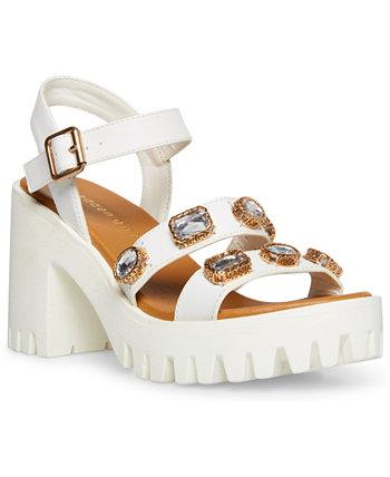 Stunning Gemstone Lug Sandals Madden Girl