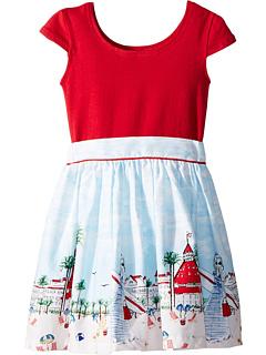 Just Shellin Abbie Dress (для малышей / маленьких детей / больших детей) Fiveloaves twofish