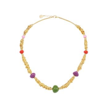 Biba 24K позолоченный & amp; Ожерелье из бисера Gas Bijoux