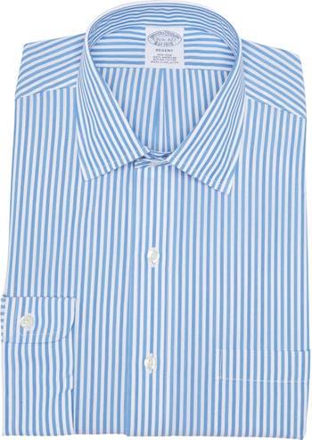 Рубашка Regent Fit с длинными рукавами и полосатым принтом Brooks Brothers