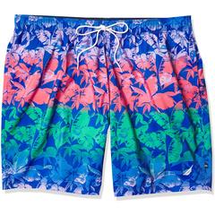 Мужские шорты для плавания с тропическим принтом, большие и высокие 8 дюймов Nautica Nautica