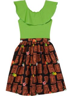 Платье Abbie с оборками на воротнике Tiki (Маленькие / Дети старшего возраста) Fiveloaves twofish