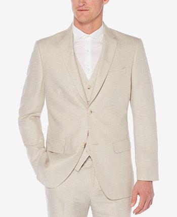 Мужской льняной пиджак в елочку Perry Ellis