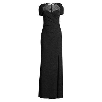Вечернее платье с блестками и бисером Basix Black Label