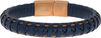 Кожаный браслет и плетеный браслет ALOR