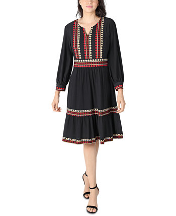 Многоярусное платье трапециевидной формы из джерси Petite Robbie Bee