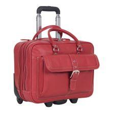 Портфель для бизнеса и сумка для ноутбука на колесиках Heritage из шагреневой кожи с двумя отделениями на колесиках Heritage