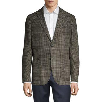 """Куртка из смесовой шерсти с узором """"гусиные лапки"""" с оконным стеклом BOGLIOLI"""