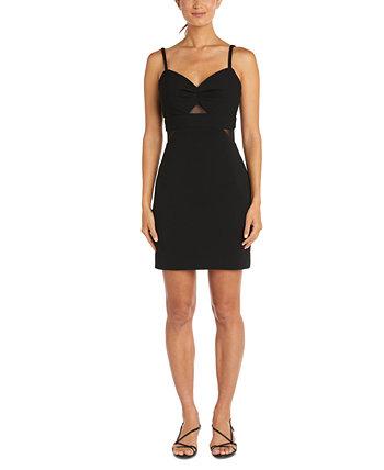 Юниорское платье с иллюзией и вставками Morgan & Company