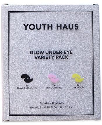 6 шт. Набор масок под глаза Youth Haus Glow Skin Gym