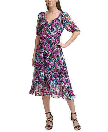 Printed Belted Dress DKNY