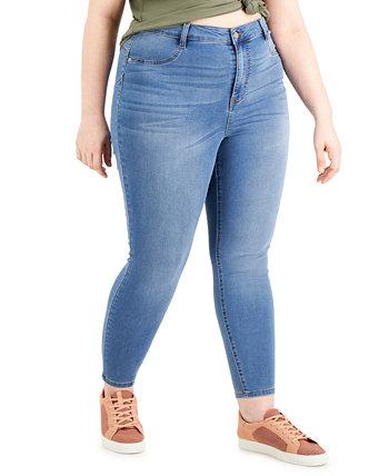 Модные джинсы скинни больших размеров с высокой посадкой Dollhouse