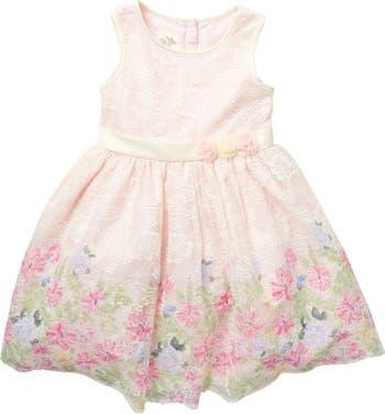Платье без рукавов с цветочным кружевом Laura Ashley