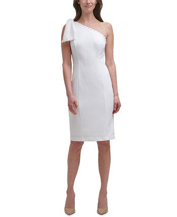 Платье-футляр на одно плечо с бантом Petite Eliza J