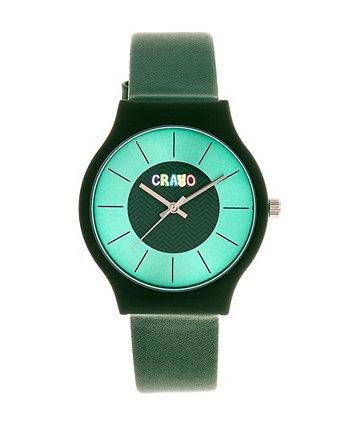 Мужские часы Trinity Green с ремешком из искусственной кожи 36 мм Crayo