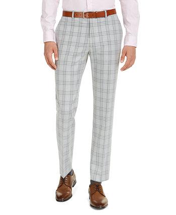 Мужские удобные эластичные брюки современного кроя TH Flex со сплошным покрытием Tommy Hilfiger