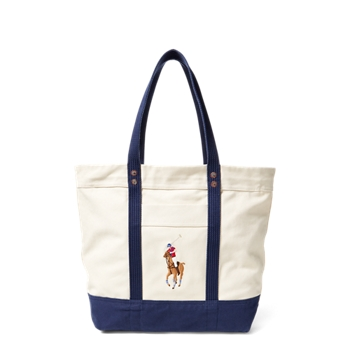 Big Pony Canvas Tote Bag  Size Ralph Lauren