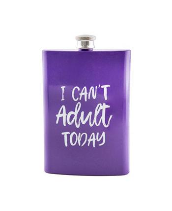 "Фиолетовый флакон ""Я не могу сегодня взрослым"" 8 унций THIRSTYSTONE"