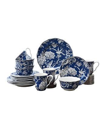 Набор столовой посуды Adelaide Dark Blue из 16 предметов, сервиз для 4 человек 222 Fifth