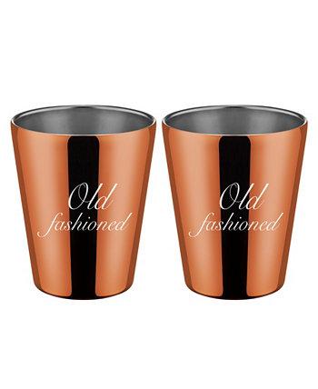 "Медные двойные ""Old Fashioned"" двойные чашки Old Fashion - набор из 2 шт. THIRSTYSTONE"