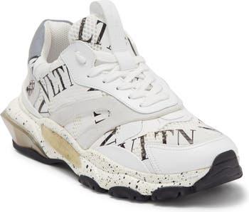 Кожаные кроссовки с логотипом Valentino