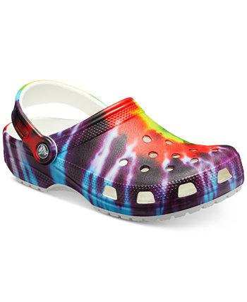Классические туфли-клоги Tie Dye от Finish Line Crocs