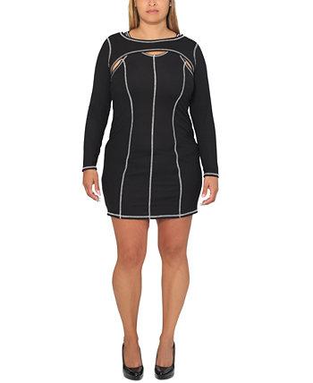 Платье большого размера с открытыми плечами Ultra Flirt