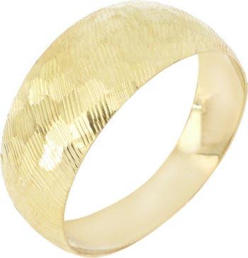 Кольцо с градуированной текстурой из желтого золота 14 карат Bony Levy