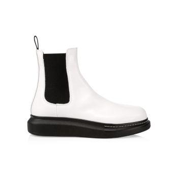 Кожаные ботинки челси на платформе Alexander McQueen