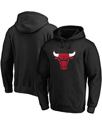 Мужская черная толстовка с капюшоном с логотипом Chicago Bulls Primary Team Majestic