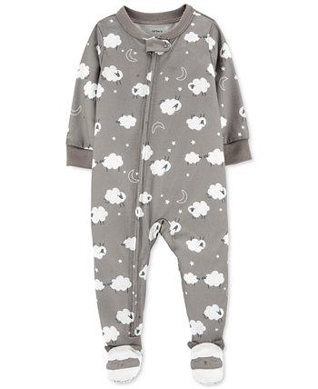 Пижамы с принтом овец для маленьких мальчиков или девочек Carter's
