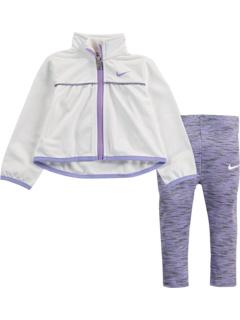 Комплект из двух частей трикотажного жакета и леггинсов с принтом (для маленьких детей) Nike Kids