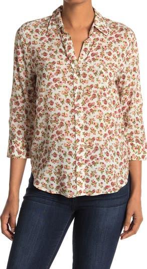 Блуза на пуговицах с цветочным рисунком Ryan LAGENCE