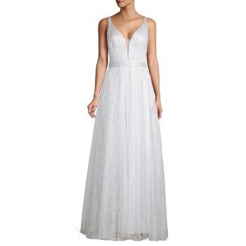 Бальное платье без рукавов с металлическим блеском Basix Black Label