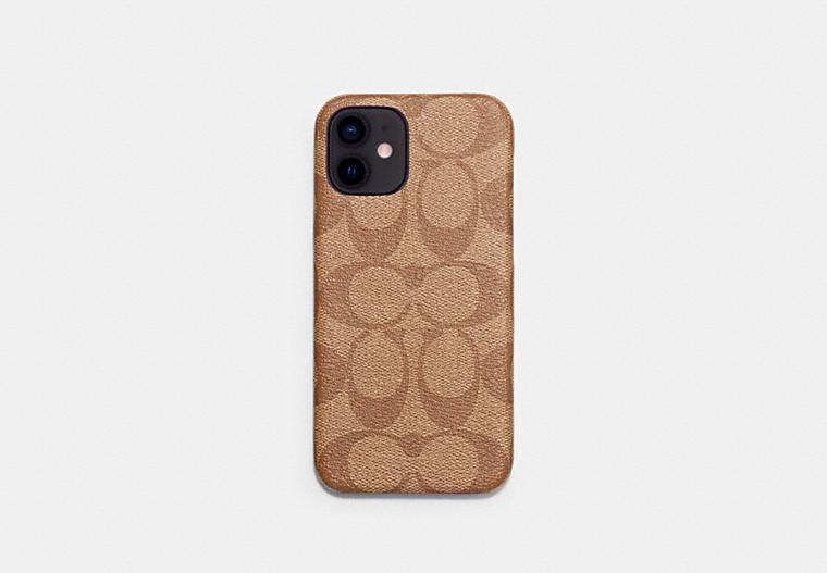 Iphone 12 Case In Signature Canvas COACH